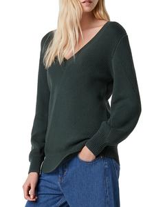 Sweater Wide Neckline V