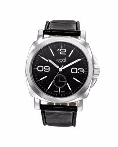 Regal Armbanduhr mit einem schwarzen Lederband