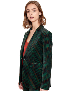 Printed Blazer Jacket Vonnie