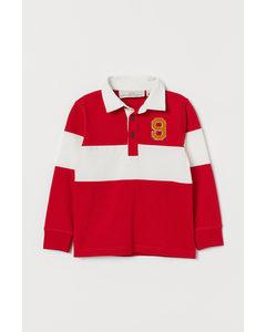 Rugbytröja Röd/randig