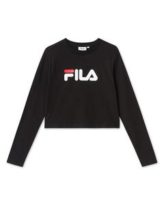 Women Marceline Cropped Ls Shirt Black