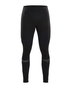 Warm Train Wind Tights M - Black/transparent Grey