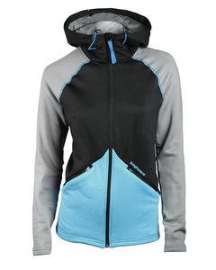 Clima Hood Jacket Women Black/turquoise
