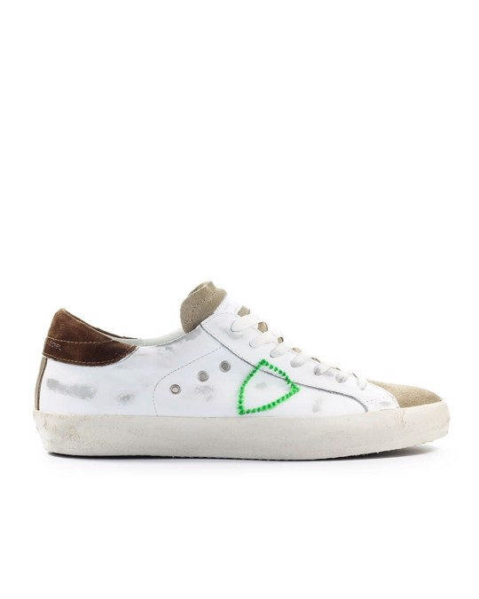 Philippe Model Philippe Model White Sand Green Paris Mixage Sneaker