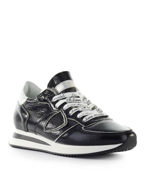 Philippe Model Philippe Model Trpx Black Patent Sneaker