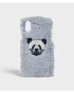 S.c Iphone X/xs Fluffy Grey Panda