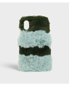 S.c Iphone X/xs Fluffy Olive/mint
