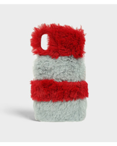S.c Iphone X/xs Fluffy Red/grey