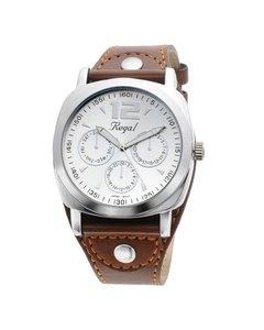 Regal Horloge Met Een Bruine Leren Band