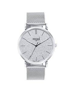 Regal Mesh Horloge Glitter Met Zilverkleurige Band