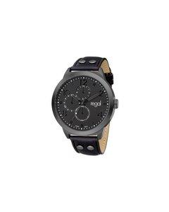 Regal Horloge Met Een Zwarte Leren Band