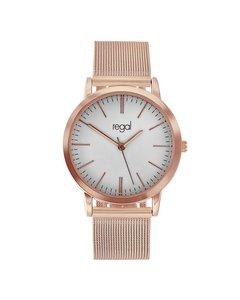 Regal Mesh Horloge Met Rosekleurige Band