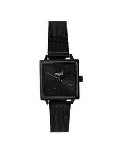 Regal Horloge Met Een Zwarte Kast En Band