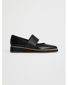 Ribbed Shoe  Nappa Black