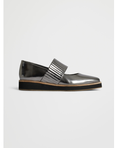 Ribbed Shoe  Nappa Silver