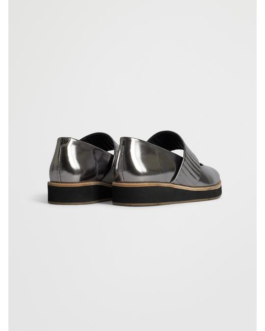 Reschia Ribbed Shoe  Nappa Silver