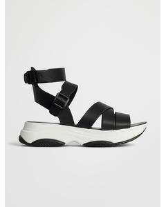 Biaalia Chunky Strap Sandal Black
