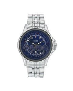 Regal-Uhr mit silberfarbenem Band R20253-332