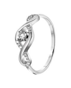 Zilveren Ring Fantasie Zirkonia