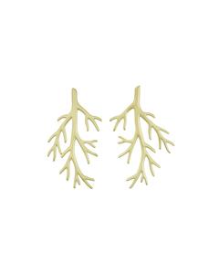 Branch Earrings Matt Gold