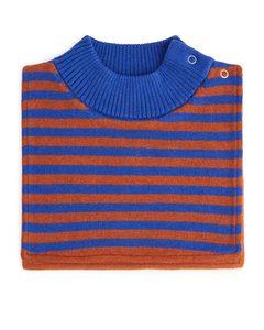 Fleece Lined Bib Neck Terracotta/blue