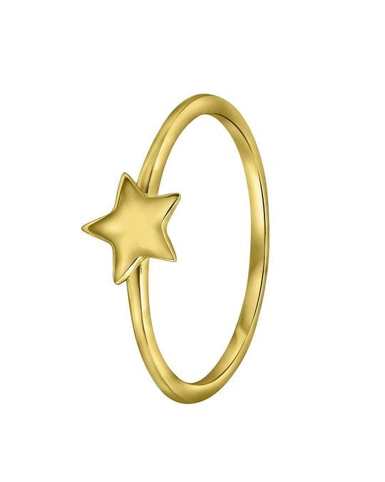 Lucardi Zilveren Ring Goldplated Galaxy Ster