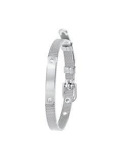 Mesh-Armband aus Stahl mit Riemenverschluss