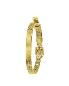 Stalen Armband Goldplated Mesh Riem