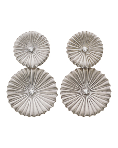 Crinkle Earrings Matt Steel
