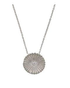 Crinkle Necklace Matt Steel