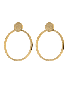 Valerie Earrings Large Sparkle Gold