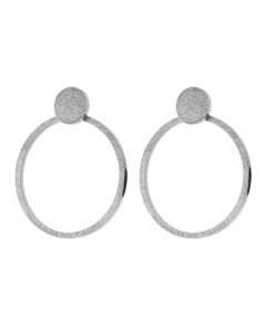 Valerie Earrings Large Sparkle Steel