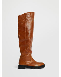 Over Knee Boot Cognac