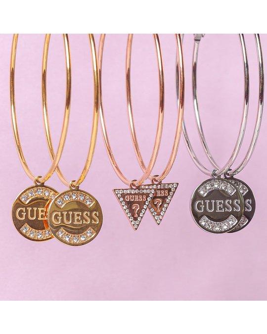 GUESS Guess Ohrringe, Edelstahl, GUESS-Logo, 50 mm