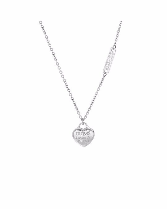 GUESS Halskette von Guess, Edelstahl, Herzanhänger, Logo