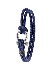 Stalen Armband Blauw Stof