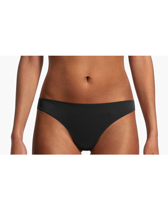 AFOUND OBJECTS Microfibre Thong Briefs Black