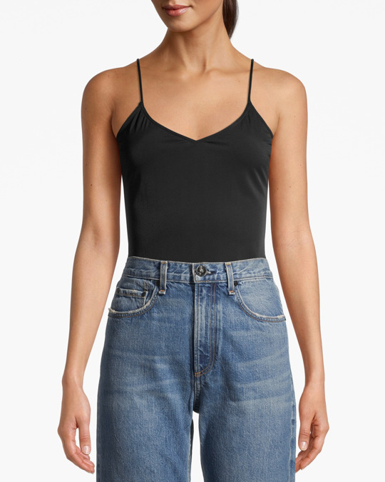 AFOUND OBJECTS Microfibre Tank Top Black
