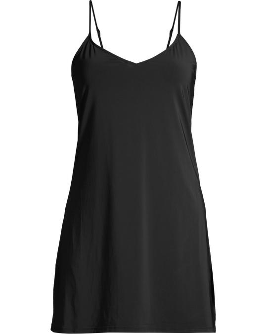 AFOUND OBJECTS Microfibre Slip Dress Black