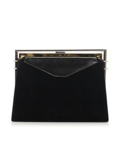 Fendi Leather Clutch Bag Black