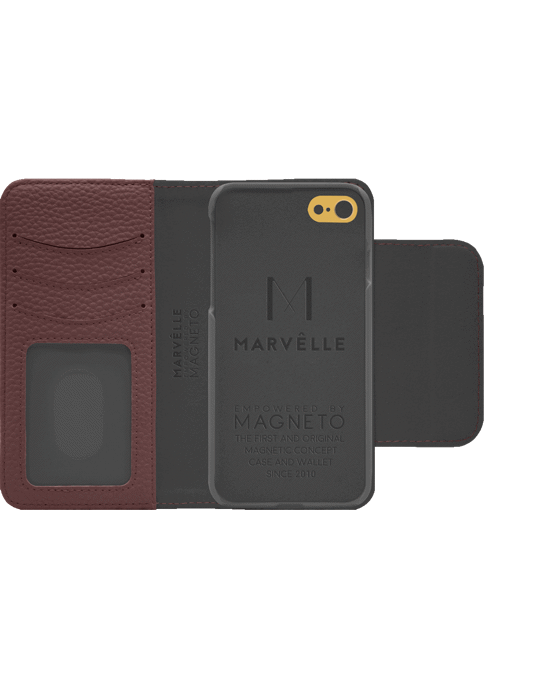 Marvêlle N303 Magnetic Case & Wallet Roseberry Rose  - Iphone 6/6s/7/8  Roseberry Rose