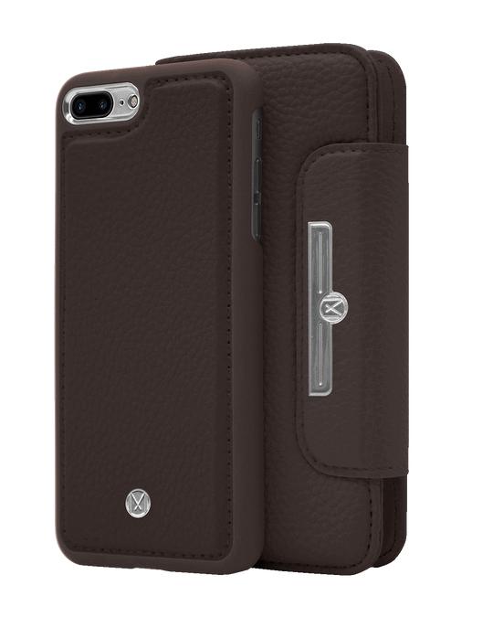 Marvêlle N303 Magnetic Case & Wallet Walnut Dark Brown  - Iphone 7/8 Plus  Walnut Dark Brown