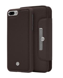 N303 Magnetic Case & Wallet Walnut Dark Brown  - Iphone 7/8 Plus  Walnut Dark Brown