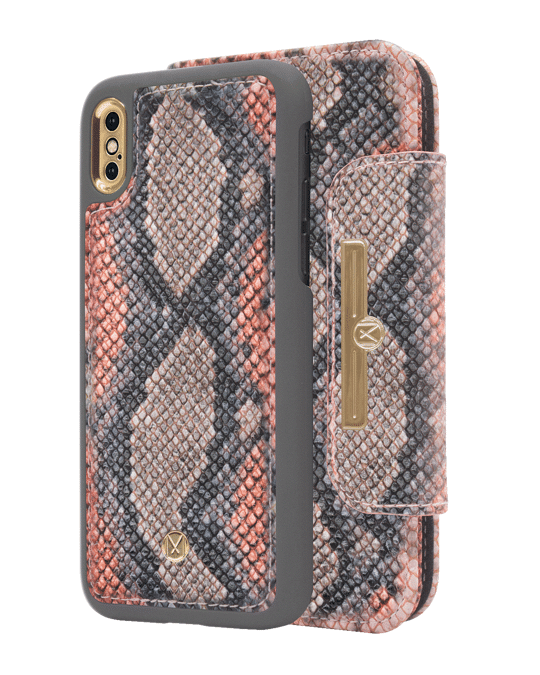 Marvêlle N303 Magnetic Case & Wallet Multicolor California Snake  - Iphone X/xs  Multicolor California Snake