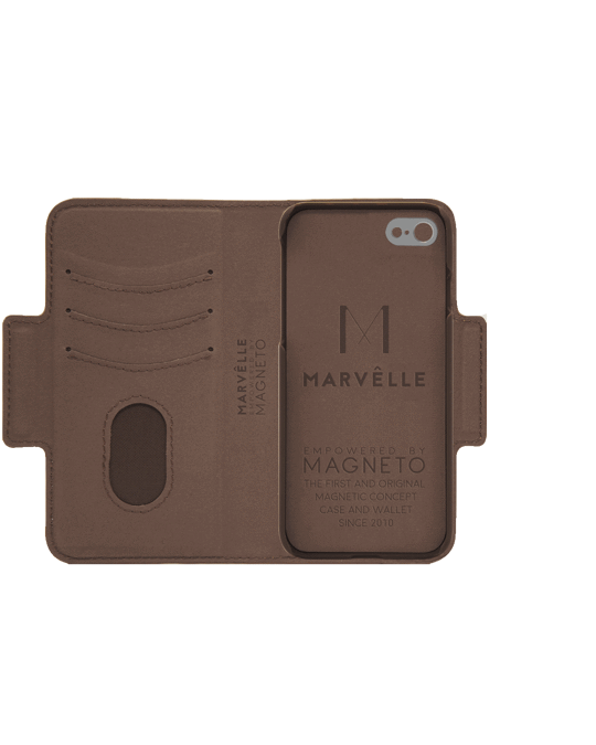 Marvêlle N305 Magnetic Case & Wallet Walnut Dark Brown  - Iphone 6/6s/7/8  Walnut Dark Brown