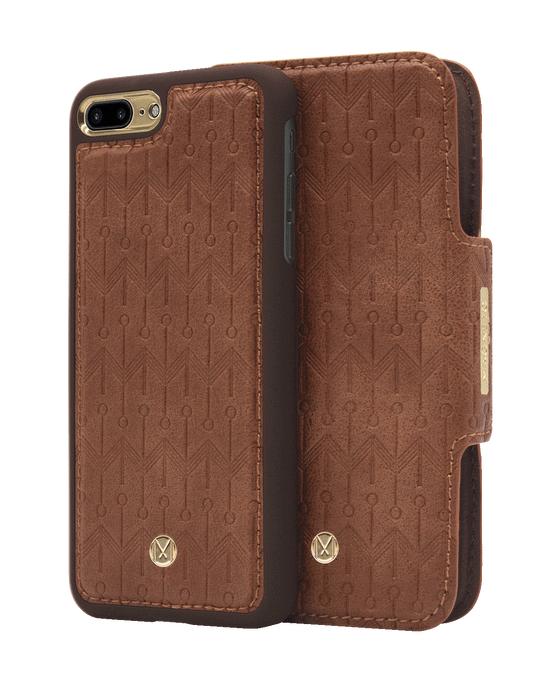 Marvêlle N305 Signature Magnetic Case & Wallet Oak Light Brown  - Iphone 7/8 Plus  Oak Light Brown