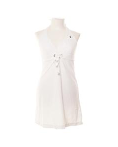 Ralph Lauren, Halterneckklänning, Strl: M, Vit, Polyester/bomull