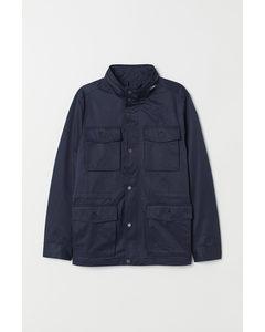 Utility jas donkerblauw
