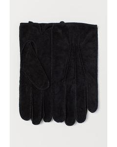 Suede gloves Black