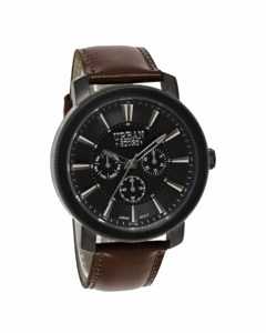 Urban Story Horloge Met Een Bruine Leren Band